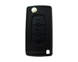 Citroen And Peugeot Flip Remote Shell 3 Button Light With Battery