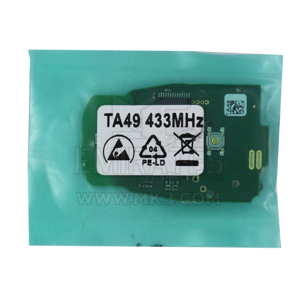 AVDI Abrites TA49 Keyless Key For Audi BCM2 Vehicles 433 MHz - Adui Cars