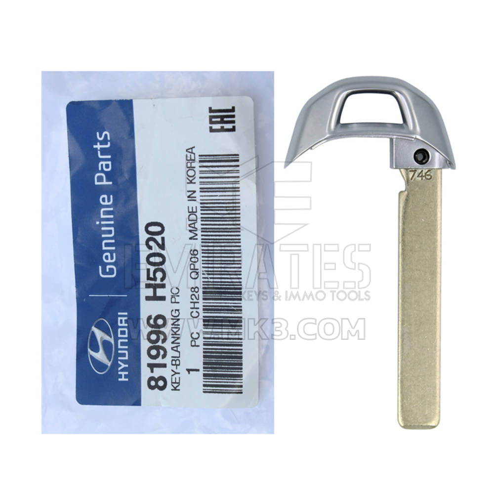 Hyundai Accent 2018 Genuine Smart Key Emergency Blade 81996-H5020 - mk3.com