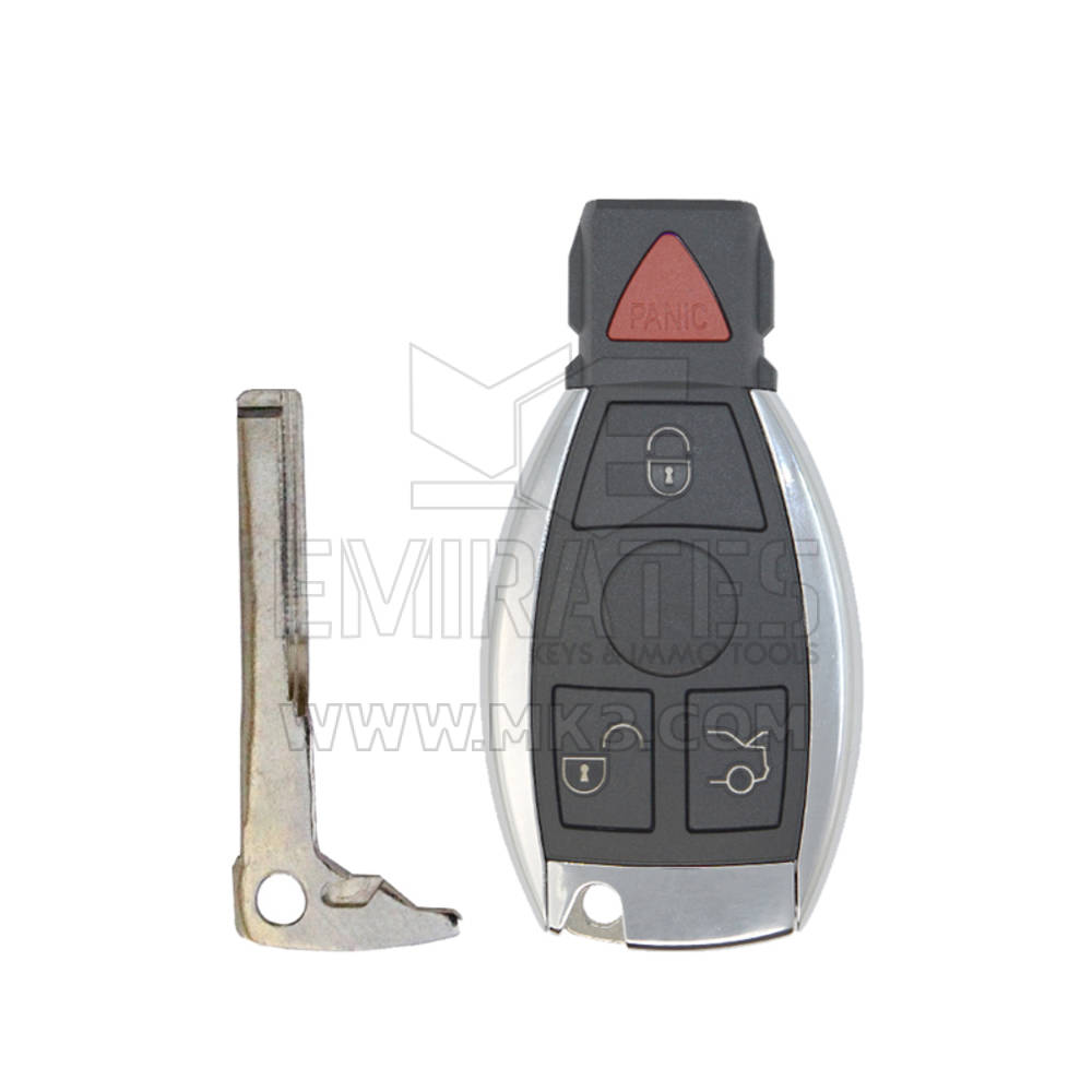 New Mercedes FBS4 Smart Remote Key PCB 3+1 Button 315MHz with Aftermarket Shell Ready to Program