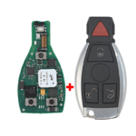 Mercedes FBS4 Original Smart Remote Key PCB 3+1 Button 315MHz with Aftermarket Shell Ready to Program