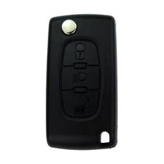Citroen Flip Remote Key Shell 3 Button without battery