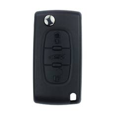 Peugeot Flip Remote Shell  3 Button without Battery Holder