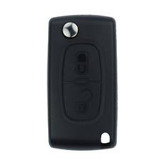 Peugeot Flip Remote Shell 2 Button without Battery Holder