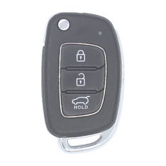 Hyundai Santa Fe 2016 Genuine Flip Remote Key 3 Buttons 433MHz 60 Transponder DM 95430-2W410 95430-2W510 Used