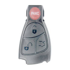 Mercedes Benz Smart Key Remote Shell Black with Panic 3 Button