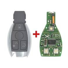 Mercedes BE Chrome Remote 433MHz 3 Button
