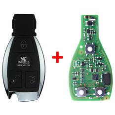 Xhorse Mercedes BE Chrome Remote 433-315MHz 3 Buttons