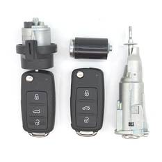 Skoda 2x Flip Remote Key 3 Buttons 433MHz UDS Type With Lock Set
