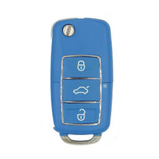 Xhorse VVDI Key Tool VVDI2 Wire Flip Remote Key 3 Button VW Blue Type XKB505EN