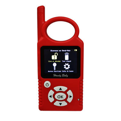 Handy Baby Hand-held Car Transponder Key Copy Auto Key Programmer for 4D 46 48 Chips French Language