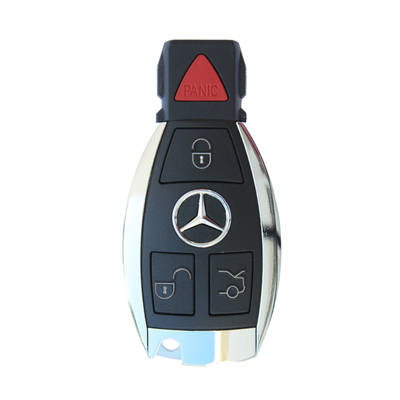 Mercedes BGA Chrome Remote Shell 4 Button With Blade