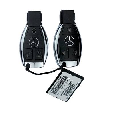 Mercedes BGA Genuine Remote 433MHz 3 Button Chrome Pair Of 2 pieces