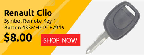 Renault Clio Symbol Remote Key 1 Button 433MHz PCF7946