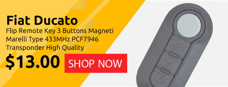 Fiat Ducato Flip Remote Key 3 Buttons Magneti Marelli Type 433MHz PCF7946 Transponder High Quality