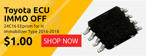 Toyota ECU IMMO OFF 24C16 EEprom for H Immobilizer Type 2016-2018