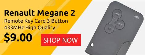 Renault Megane 2 Remote Key Card 3 Button 433MHz High Quality